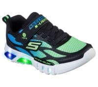 Skechers Flex-Glow Dezlom Childrens Sports Black / Lime